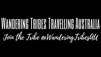 Wandering Tribes Travelling Australia Text WHTE